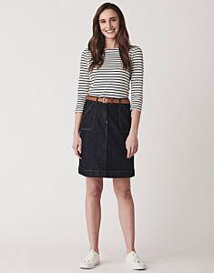 Crew Clothing Denim Pocket Skirt Dark Indigo