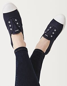 Crew Clothing Laceless Trainer Navy
