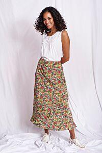 Mistral Wrap Front Floral Skirt Multi
