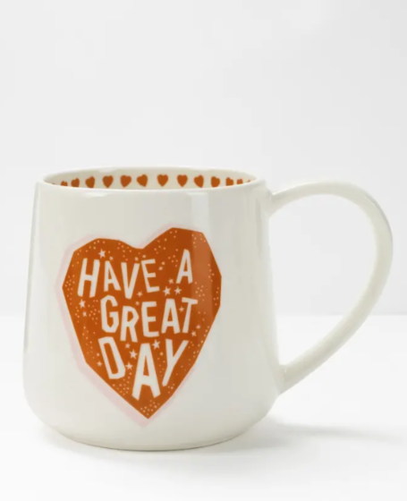 White Stuff Have A Great Day Mug Red