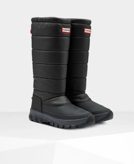 Hunter Women's Original Tall Insulated Snow Boot Black