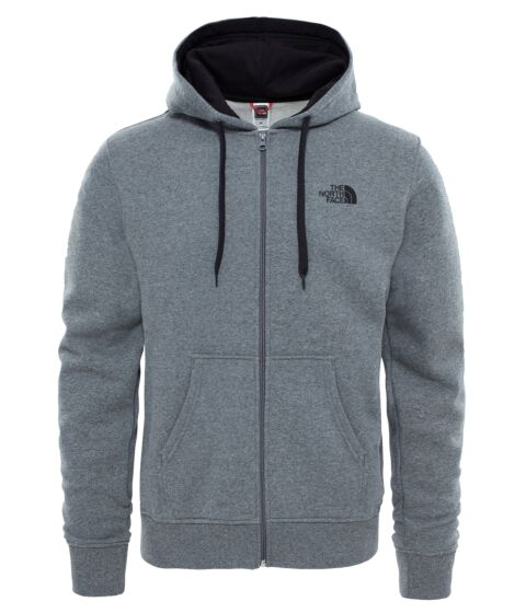 The North Face Mens Open Gate Full Zip Hoodie Grey Heather/Black
