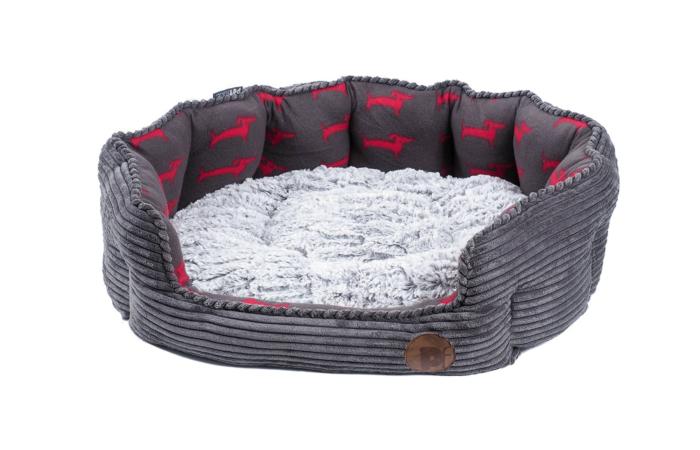 Petface Deli Grey Bamboo & Cord Dog Bed
