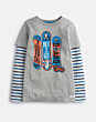 Joules Boys Liam Layer Top Grey Marl Board