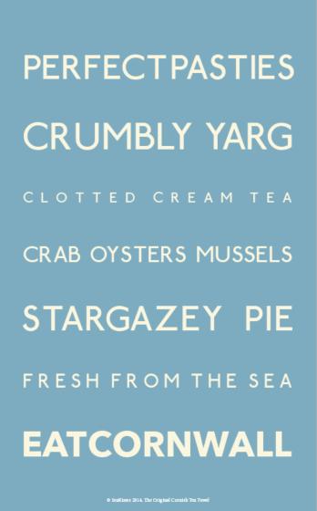 SeaKisses Eat Cornwall Tea Towel