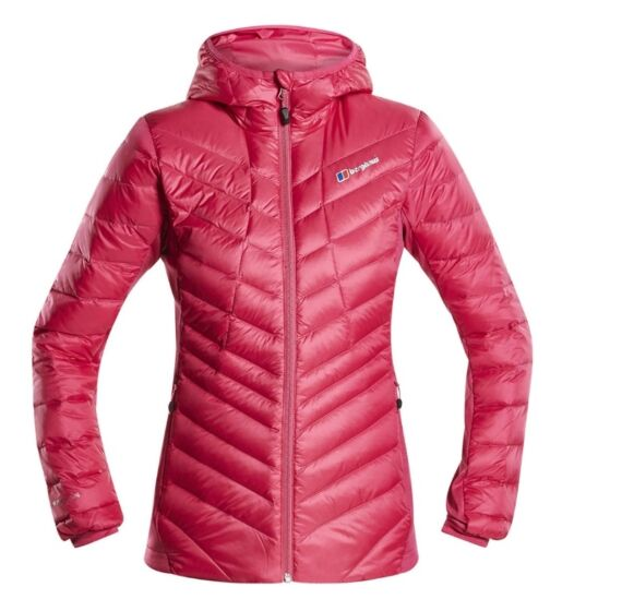 Berghaus Womens Tephra Stretch Down Jacket Pink Clearance