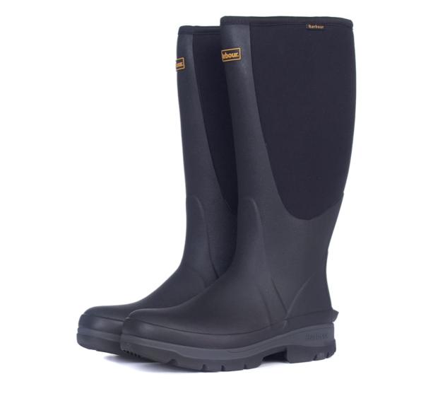 mens black leather wellington boots