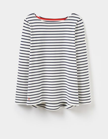 Joules Harbour Jersey Top Creme Stripe