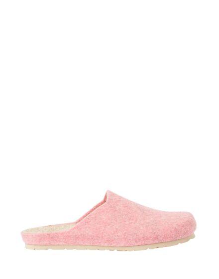 Joules Woolton Thermal Wool Felt Mule Slippers Pink Marl