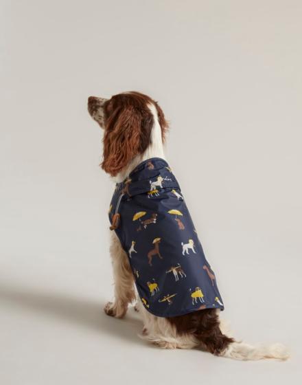 Joules Navy Dog Print Raincoat