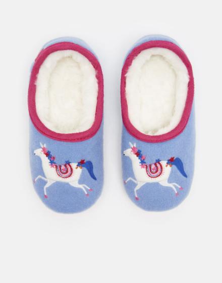 Joules Girls Slippet Slippers Carousel Unicorn