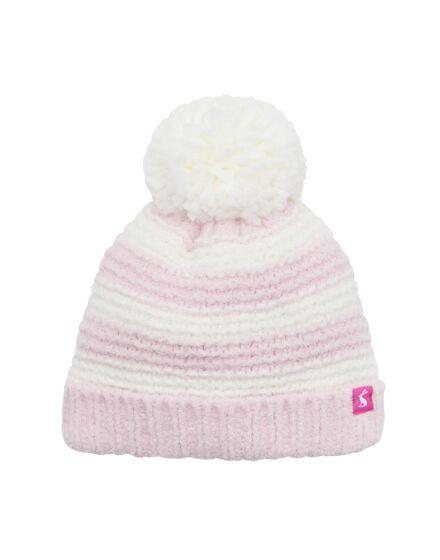 Joules Baby Girl Pomme Hat Dusk Pink Stripe