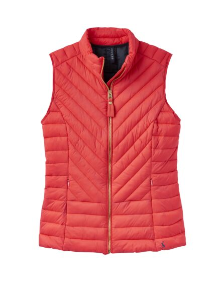 Joules Brindley Quilted Gilet Red Currant