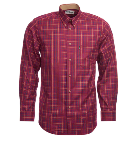 Barbour SP Tattersall Shirt Ruby