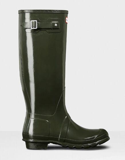 Hunter Original Tall Gloss Boot Dark Olive