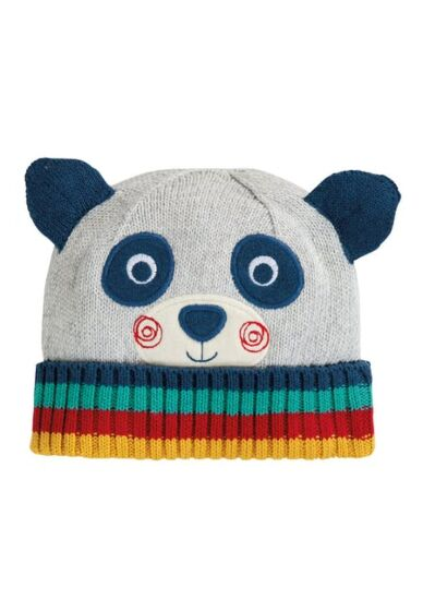 Frugi Friendly Face Knitted Hat Panda