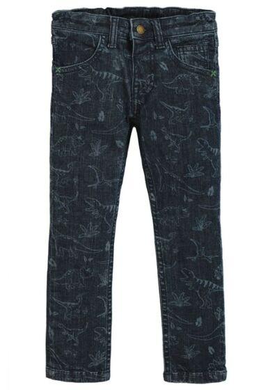 Frugi Jordan Printed Jeans Denim Dino