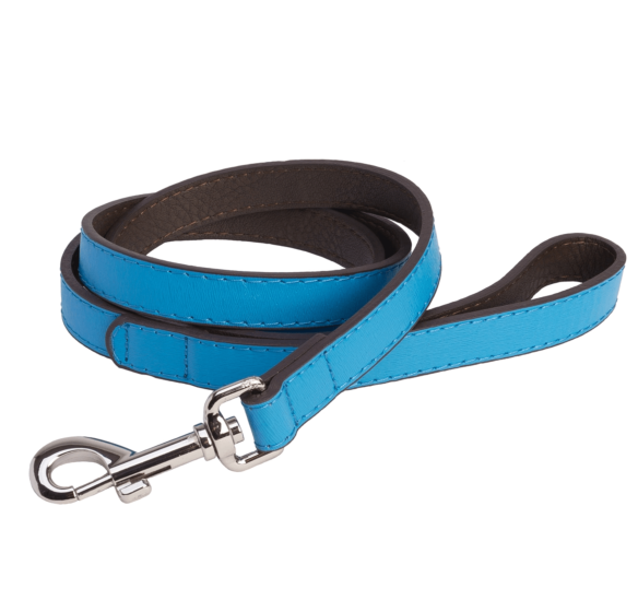 DO&G Leather Lead Light Blue