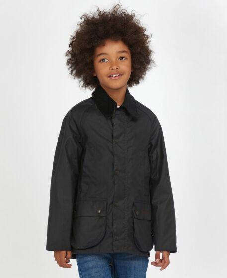 Barbour Boys Bedale Wax Jacket Navy