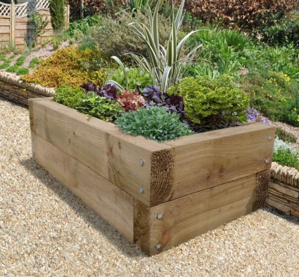 Forest Gardens Sleeper Raised Bed