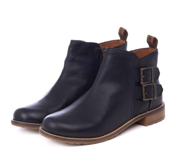 Barbour Sarah Low Buckle Boot Black