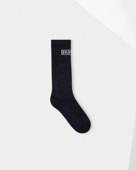 Hunter Original Knitted Short Boot Sock Navy