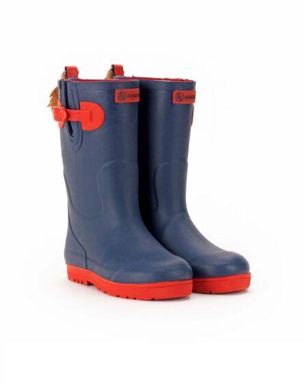 Aigle Woody Pop Iso Children's Wellington Boots Indigo