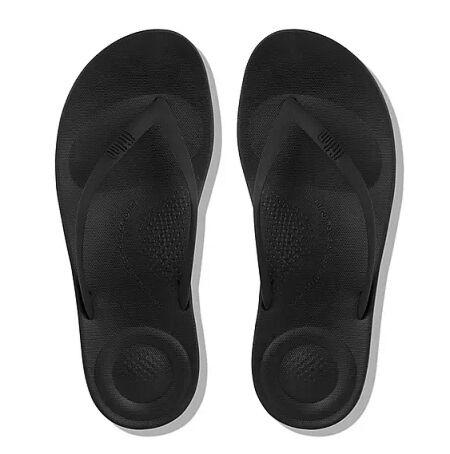Fitflops Iqushion Ergonomic Flip Flops All Black