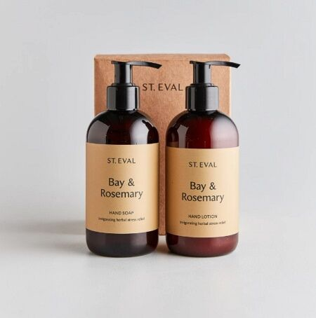 St Eval Hand Wash & Lotion Set Bay & Rosemary