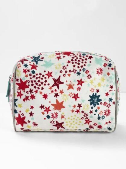 White Stuff Tis the Season Wash Bag Ecru Multi