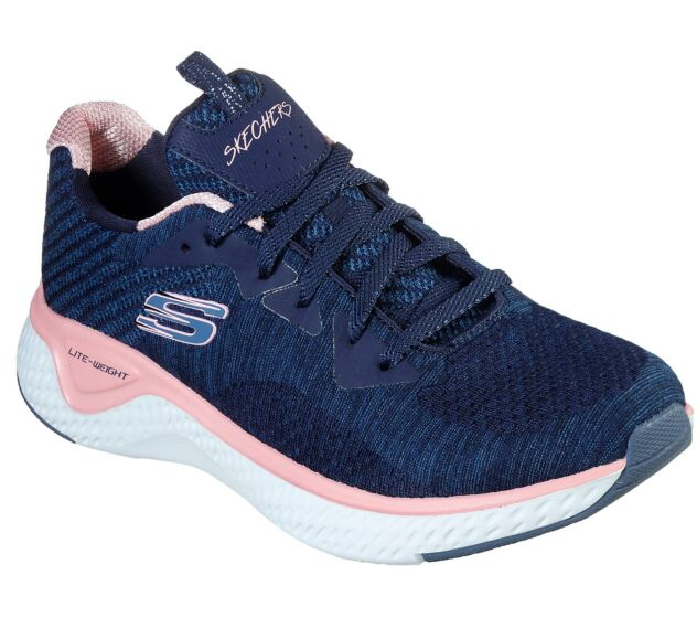 Skechers Women's Solar Fuse - Brisk Escape Navy/Pink