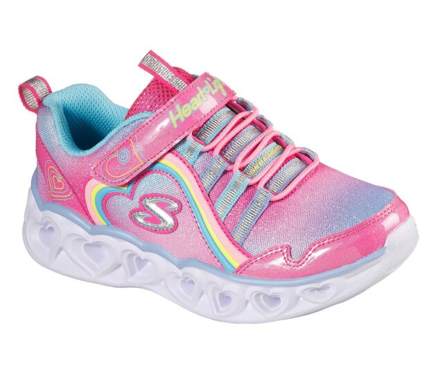 Skechers S Lights: Heart Lights - Rainbow Luxe Pink/Multi