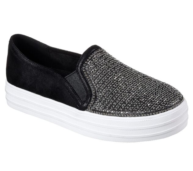 Skechers Double Up Shiny Dancer Black/White