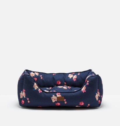 Joules Percher Square Pet Bed Navy Floral