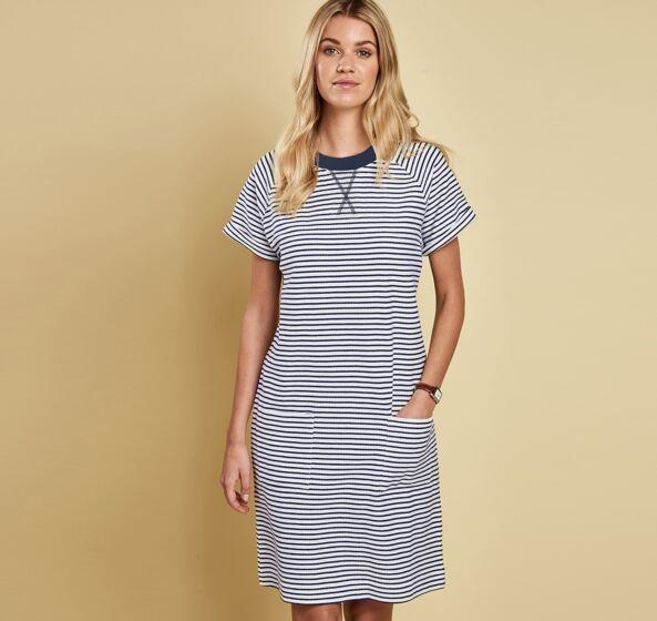 Barbour Monreith Dress White/Navy