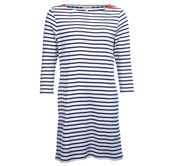 Barbour Southwold Dress Navy/White