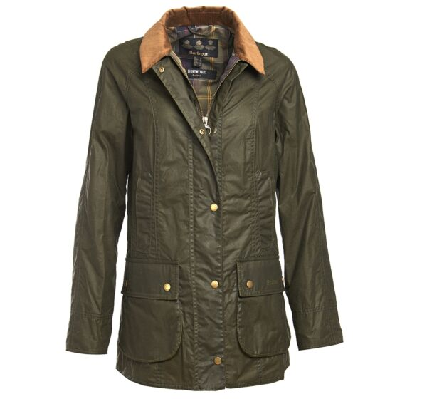 Barbour 4oz Lightweight Beadnell Wax Jacket Archive Olive