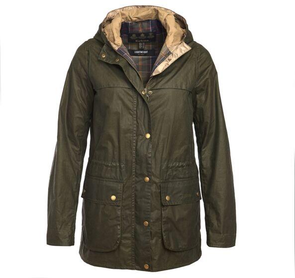 Barbour 4oz Lightweight Durham Wax Jacket Archive Olive