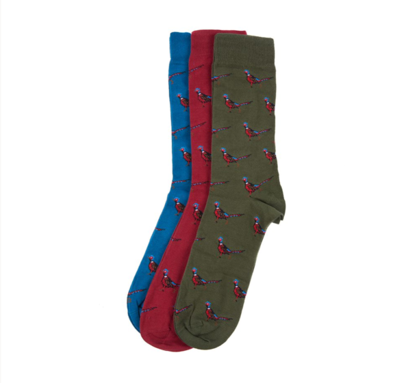 Barbour Pheasant Socks Gift Box Mixed 1