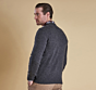Barbour Nelson Essential V-Neck Jumper Charcoal