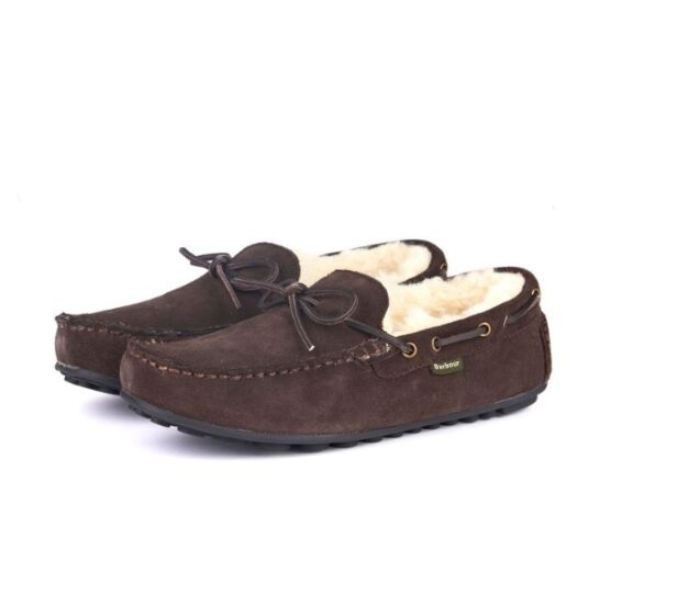 Barbour Mens Halom Slippers Brown