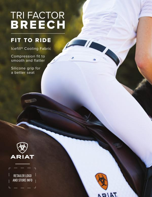 Review on Ariat Tri-Factor Navy Breeches by Charlotte Pellow