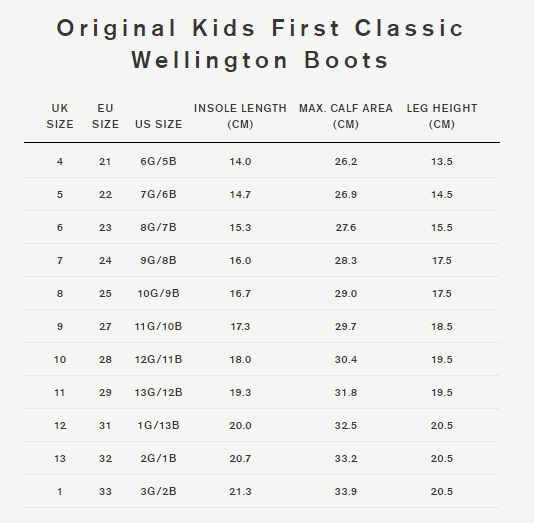 First Size Hunter Size Guide