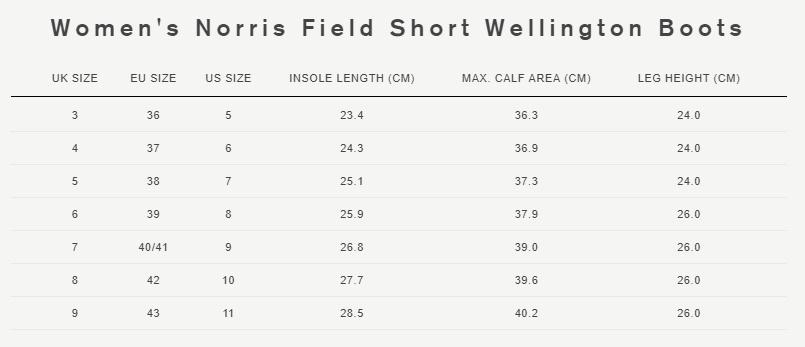 Women's norris field short wellington boots