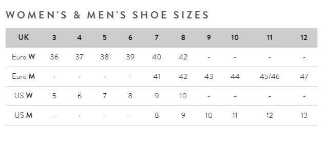 Joules womens footwear size guide